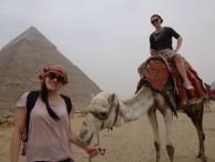 Jade riding a camel