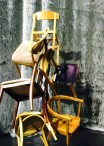 Trees made from chairs